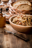 Bigos - stewed cabbage with meat,dried mushrooms and smoked sausage. - 198611811