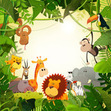 Wildlife Jungle Animals Background