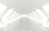 Bright white corridor or tunnel