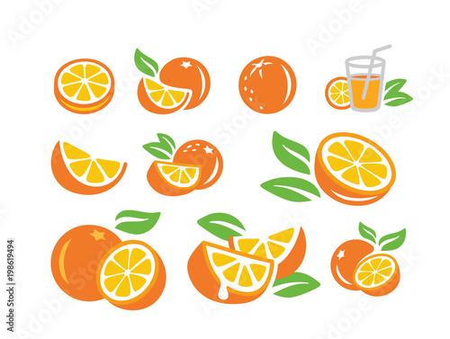 Fresh orange fruits - 198619494