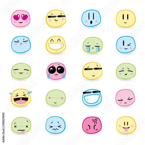 16 high quality vector cartoonish emoticons - 198629845