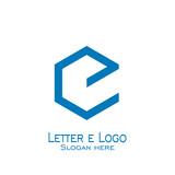 hexagon letter e logo, vector icons.