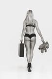Erotik pur - sexy junge  Frau in  Dessous von hinten