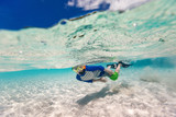 Boy swimming underwater - 198662608