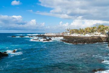 View of the coast in Puerto de la Cruz, Tenerife, Canary Islands