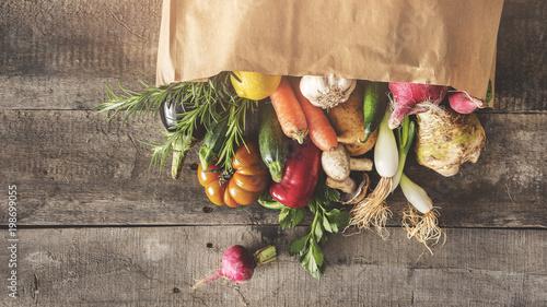 Fresh vegetables healthy food concept - 198699055