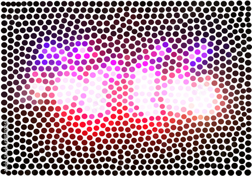 Fototapeta Violet dots on a white background vector