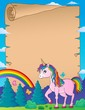 Happy unicorn topic parchment 3