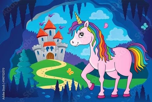 Poster Voor kinderen Happy unicorn topic image 4