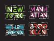 New York Brooklyn The Bronx Manhattan vector t-shirt and apparel