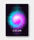 A4 size vector abstract colorful gradient liquid futuristic desi - 198719802