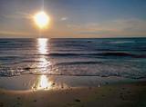 Nordic sunset beach
