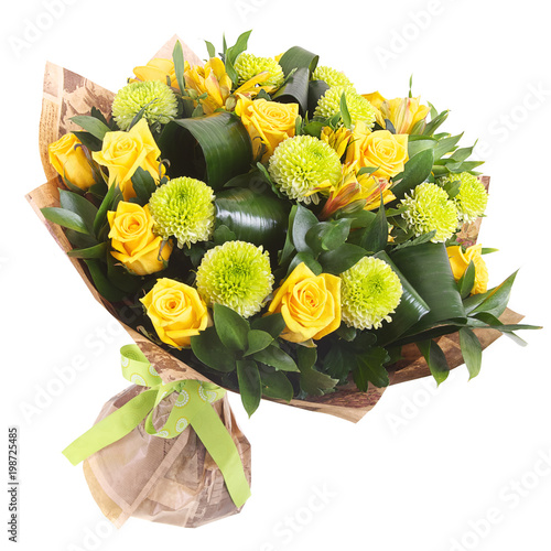 Bouquet of yellow roses - 198725485