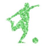 Footballeur Abstrait Cercles Vert