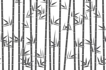 Green bamboo background. Vector illustration