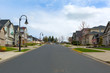 New Suburban Neighborhood Street in North America