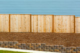 New Garden Wood Fence by House Exterior