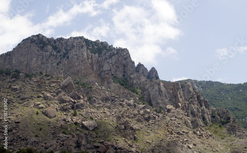 Plexiglas Grijs Crimea. Mountain Demerdzhi