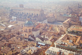 Aerial view of an old city center in daylight. Bologna, Italy - 198771686