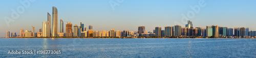 Aluminium Abu Dhabi Abu Dhabi cityline at sunset