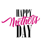 Happy Mothers Day lettering. Mother Day design element. Handwritten and typed text, calligraphy. For greeting cards, posters, leaflets and brochures.