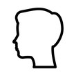 silhouette human head male character