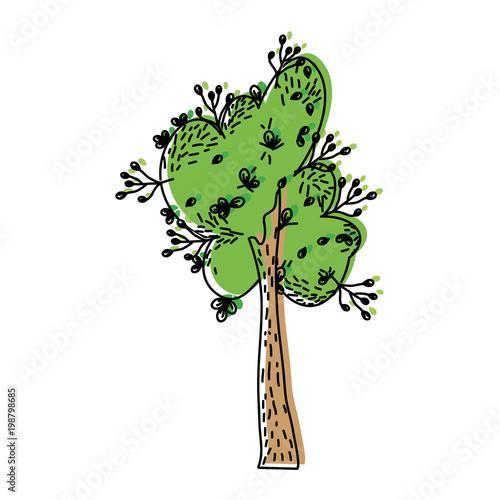przesunąłem kolor drzewa tropikalnego z łodygą i naturalnymi liśćmi