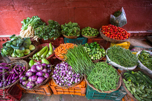 Foto Murales Vegetables for sale on the street, India.