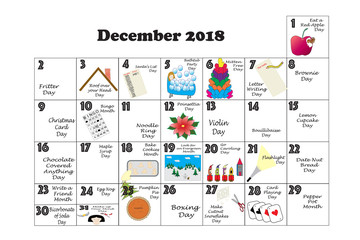 December 2018 Quirky Holidays and Unusual Events