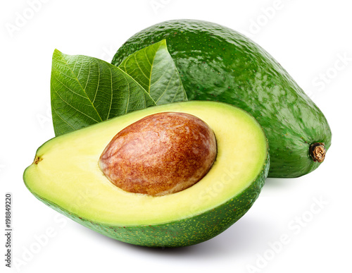 Fotobehang Vruchten Avocado isolated on white