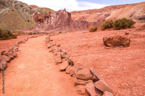 Foto op Plexiglas Oranje eclat chili vallée arc en ciel