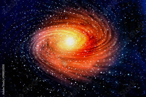 Spiral galaxy in outer spaces - 198853858