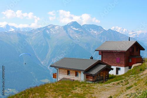 Fotobehang Blauwe hemel Landscape in Austrian Alps