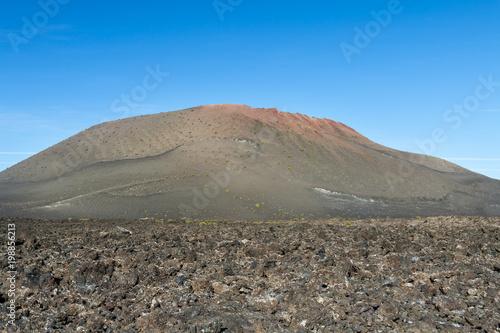 Deurstickers Canarische Eilanden Timanfaya Lava Fields In Lanzarote, Spain