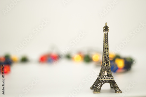 Eiffel tower isolated over the white background. - 198861240