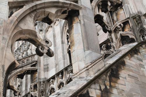 Fotobehang Milan fragment of the Milan cathedral