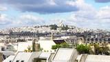view of Paris Mont Matre hill and parisian roofs, France - 198877291