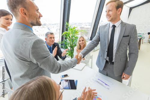 Handshake at business meeting