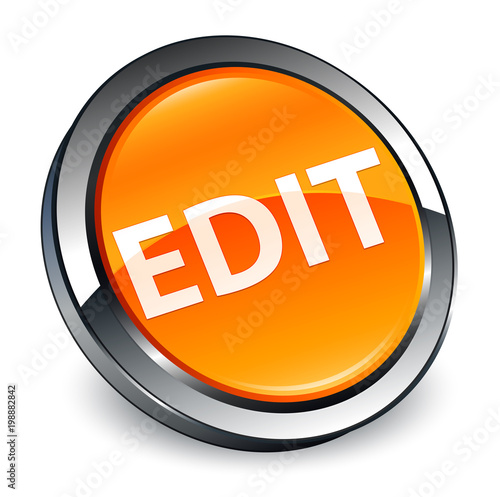 Edit 3d orange round button