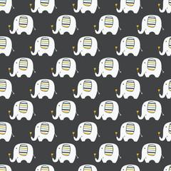 Cute elephants seamless pattern © annata78