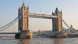 The histroic Tower Bridge in London, England.