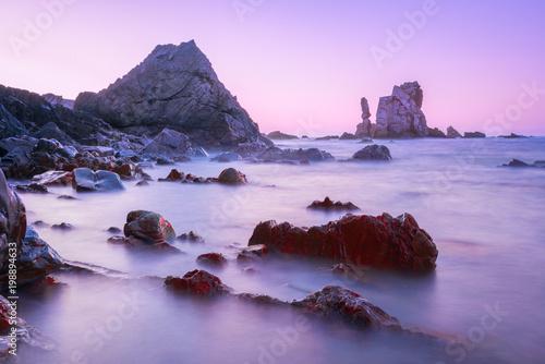 Deurstickers Purper Playa del Silencio