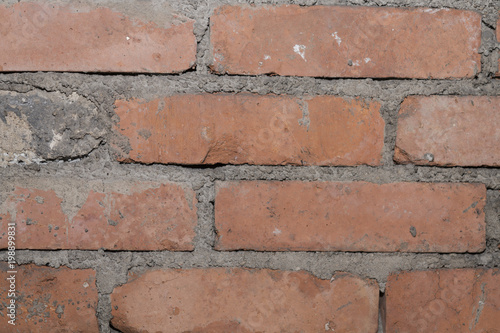 Foto op Plexiglas Baksteen muur Backsteine eines alten Gemäuers