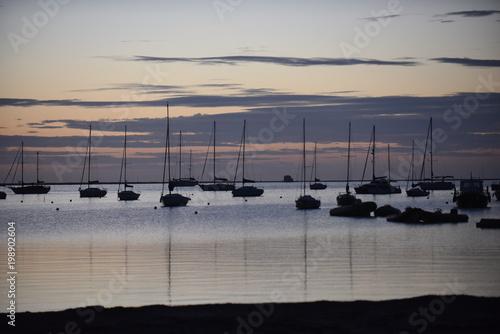 Keuken foto achterwand Ochtendgloren Amanecer en el Mar Menor