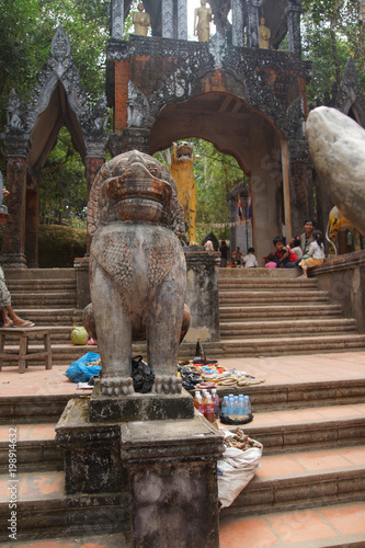 Fotobehang Boeddha Chinth lion statue at Buddhist temple