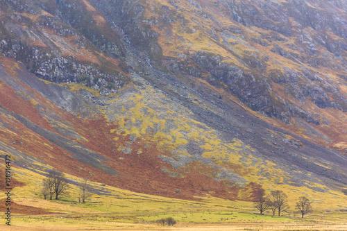 Fotobehang Lavendel Scotland highlands near Glencoe, beautiful winter landscape for travel and hiking.