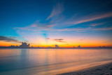 Calm sunset over ocean on Maldives
