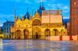 Piazza San Marko at dusk, Venice