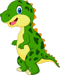 Cartoon green dinosaur
