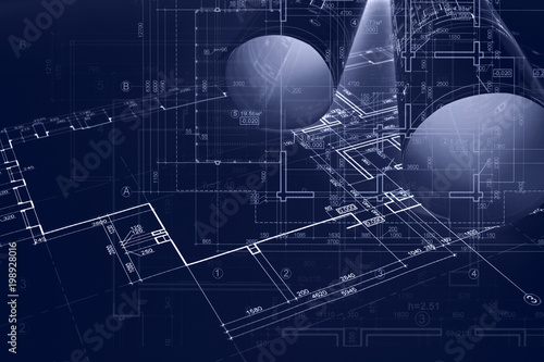 Architect Workplace Background Construction Concept Architectural